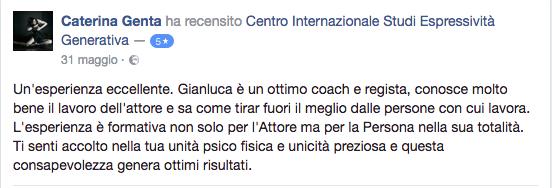 recensione Caterina Genta
