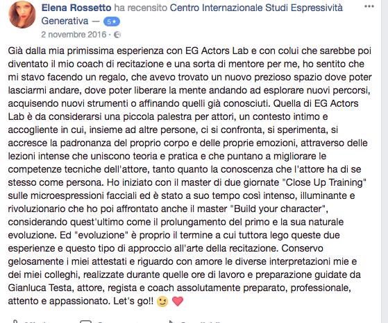 recensione Elena Rossetto